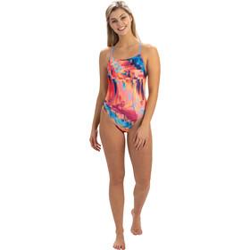 Dolfin Print Diamondback One Piece Swimsuit Women technicolor dreams